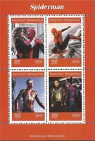 Madagascar - 2019 Marvel Comics Superhero Spider-Man - 4 Stamp Sheet - 13D-272