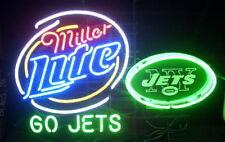 """New Miller Lite New York Jets Neon Light Sign 24""""x20"""""""