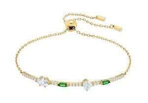 Swarovski Bracelet OZ Yellow Gold Coated Size M New
