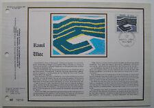 RAOUL UBAC  Feuillet CEF Timbre 1er jour SOIE - 1980