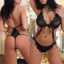 Chic LADY Lingerie Lace Dress Babydoll Underwear Nightwear G-string Sleepwear