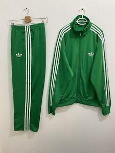 Adidas Originals ADI-Firebird Tracksuit Green White Size 2XL **Read Description*
