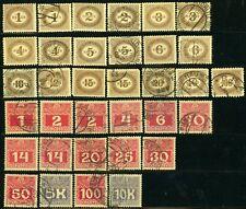 AUSTRIA #J22-J33 #J34-J44 Postage Due Stamp Collection EUROPE Used MLH