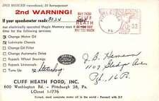 Pittsburgh Pennsylvania Cliff Heath Ford Dealship Ad Vintage Postcard J67130