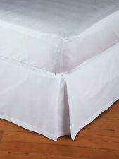 SCHWEITZER LINENS NEW WHITE  TAILORED PLEATED  TWIN BEDSKIRT  made in Italy