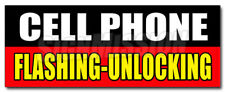 CELL PHONE FLASHING UNLOCKING DECAL sticker full partial operating