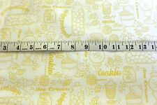 Gumdrops & Lollipops Fabric Yellow Toile Print  Cotton Fabric Quilting Treasures