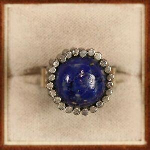 schöner Ring mit Lapislazuli Schmuck - Silber 835