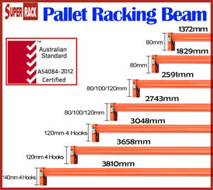 Brand New Heavy Duty Pallet Racking Beams Dexion Compatible
