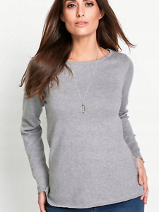 BON PRIX GREY SWEATER JUMPER SIZE M OR UK 14 TO 16 NEW WITH TAG RRP £49.00
