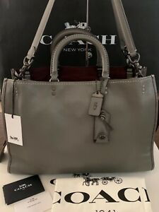NWT Coach 1941 Rogue 39 Heather Grey Leather Purse Bag Satchel Tote #21036 $995