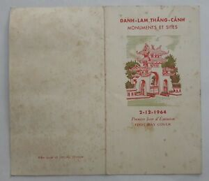 VIETNAM fdc cover card 1964 Monuments and Sites; temple