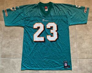 Reebok Ronnie Brown #23 Miami Dolphins Adult Mens Green Jersey L Large