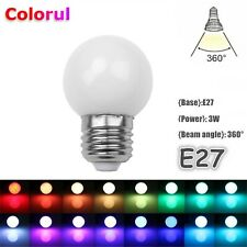 RGB LED Ampoule Clair Auto Couleur Changer E27 3W Coloré Feu 110V 220V Fête Déco