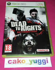 DEAD TO RIGHTS RETRIBUTION XBOX 360 TRES BON ETAT VERSION 100% FRANCAISE