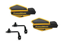 Powermadd Star Series Handguards Guards Tri Mount Ski Doo Yellow ATV Can Am