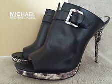 MICHAEL KORS 40T5ISHP2L Isabella Mule Leather Shoes Pumps Heels US 9 EUR 39 NWB