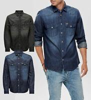 ONLY & SONS - Camicia Shirt Uomo Casual Di Jeans Manica Lunga Blu E Nera 2019/20