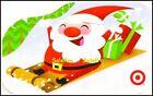 TARGET 2012 USA CHRISTMAS SANTA CLAUS ON SLED SEASON GREETINGS COLLECTIBLE GIFT  For Sale