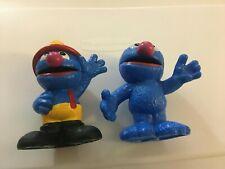 "2013 Sesame Street Workshop Hasbro Grover 3"" Plastic Figure Lot of 2"