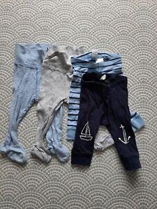 H&M Baby Boy Leggings With Feet 4-6 Months
