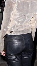 J Brand Real Leather Leggings Uk 8 Skinny Trousers Black Rrp £945