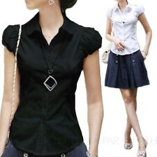 Short Sleeve Button-Down Casual Tops & Blouses for Women