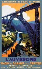 Affiche chemin de fer Midi - Auvergne Viaduc de Garabit