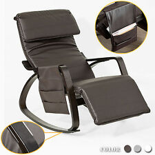 SoBuy® PU Leather Relax Rocking Chair, Lounge Chair with Footrest, FST20-BR,UK
