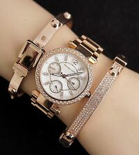 Original Michael Kors reloj fantastico mk5616 mini Parker color: Rose oro pedrería nuevo