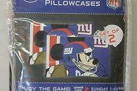 New York Giants 2 Standard Pillow Cases Mickey Mouse FREE SHIPPING