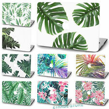 Tropical Plants Leaf Skin Painted Rubberized Hard Case Cover For Macbook Pro Air