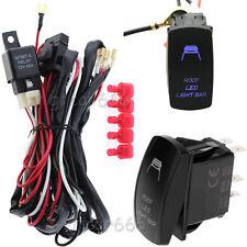 12V-24V Roof LED Light Bar & Relay Wiring Harness ON-OFF Laser Rocker Switch Kit