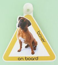 On Board Dog Car Sign Boxer on Board Suction Cap provided