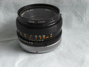 CANON original Objektiv FD 50mm 1:1,8 Lens S.C. war auf Kamera AE-1