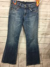 Seven For All Mankind Flare Jeans Size 24 Women's Light Wash Distressed Low Rise