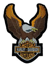 LARGE Harley Davidson Eagle - Embroidered Motorcycle/Biker Patch