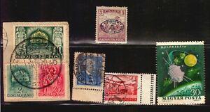 HUNGARY UNGARN error stamps varieties inverted overprint postmark cancel etc see
