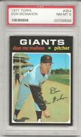 SET BREAK -1971 TOPPS # 354 DON MCMAHON, PSA 8 NM-MT, SAN FRANCISCO GIANTS, L@@K