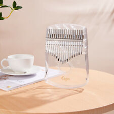 17 Keys Kalimba Thumb Piano Portable Transparent Mbira Keyboard Finger Musical