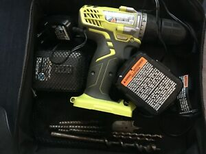 ryobi 12 volt comopact Drill-Driver 5 attachments/battery with charger