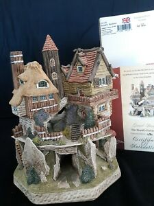 RARE David Winter Cottages Druid's Fortress Limited Edition # 434/500 COA + Box
