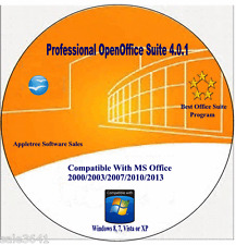 OpenOffice Suite Word  For Window 7, XP,Vista,10 & 8.1 Software New 2017