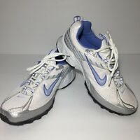 Nike AIR Athletic Shoes Blue/White/Grey 313421-152 VJ-N Size 6Y
