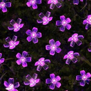 Led Cherry Blossom Garland Fairy Led Lights Christmas Holiday Lighting Lamp