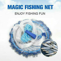 Magic Hands Cast Fishing Net Spin Network Easy Throw I3S4 Mesh 240cm/ Bait H8U4