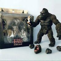 "7"" Large KING KONG Figure Monster Skull Island Godzilla vs Mecha Toy Kids Gift"