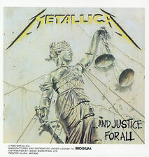 METALLICA - JUSTICE FOR ALL - STICKER/DECAL - BRAND NEW VINTAGE - MUSIC BAND 045