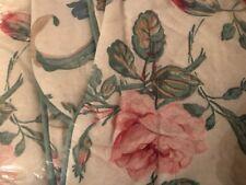 NIP Vintage Laura Ashley Padded Standard Pillow Sham Rosalind Pink Floral