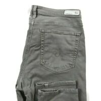 AG Adriano Goldschmied Womens 31 The Prima Mid Rise Cigarette Gray Jeans